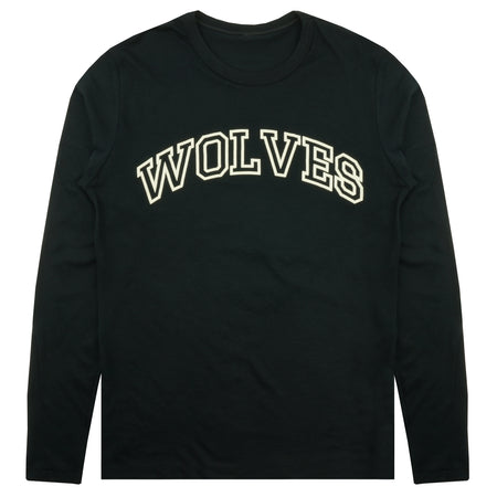 Wolves Varsity LS Keeper Tee in Black