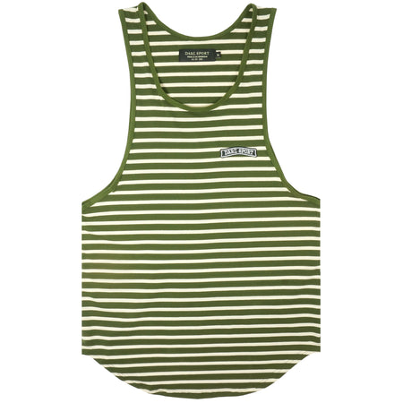 Yates Stripe Patch Drop Tank In Olive