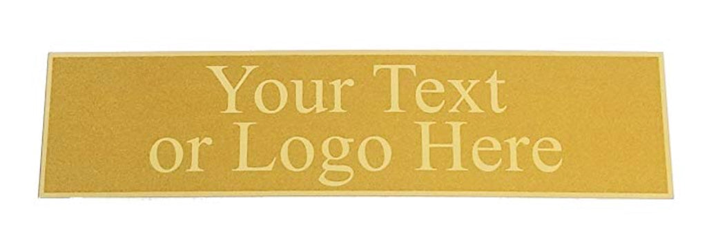 "Custom Laserfrost Gold 2"" x 8"" Personalized Plate - Customized Name Plate for Office"