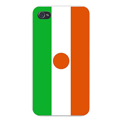 Apple iPhone Custom Case 4 4S White Plastic Snap On - World Country National Flags - Niger