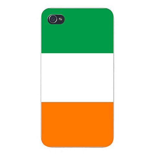 Apple iPhone Custom Case 4 4S White Plastic Snap On - World Country National Flags - Ireland