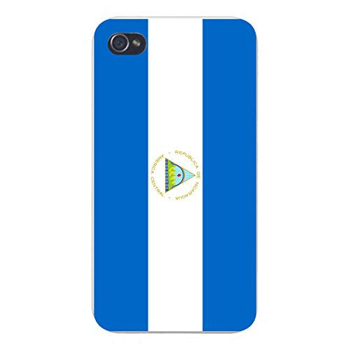 Apple iPhone Custom Case 4 4S White Plastic Snap On - World Country National Flags - Nicaragua