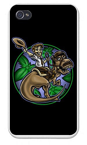 Apple iPhone Custom Case 5 / 5S White Plastic Snap On - Jurassic Parks and Rec - Parody Design