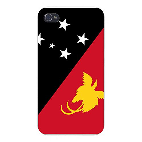 Apple iPhone Custom Case 5 / 5S White Plastic Snap On - World Country National Flags - Papua New Guinea