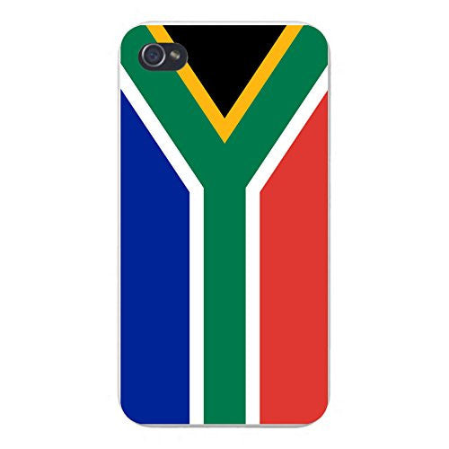 Apple iPhone Custom Case 5 / 5S White Plastic Snap On - World Country National Flags - South Africa