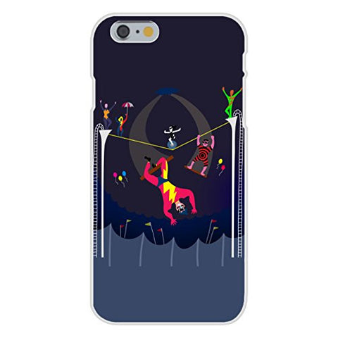 Apple iPhone 6 Custom Case White Plastic Snap On - 'Acrobats at Circus' Colorful Artwork