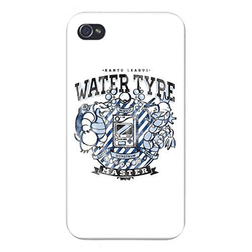 Apple iPhone Custom Case 5 / 5S White Plastic Snap On - 'Water Type' Anime TV Show Parody