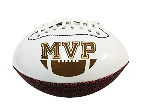 Sport Position 3D Laser Engraved Miniature Toy 7 inch Football Trophy Gift Award Recognition (MVP)