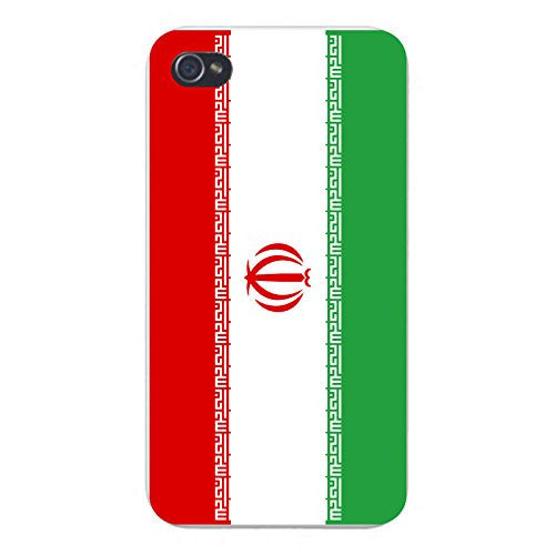 Apple iPhone Custom Case 5 / 5S White Plastic Snap On - World Country National Flags - Iran