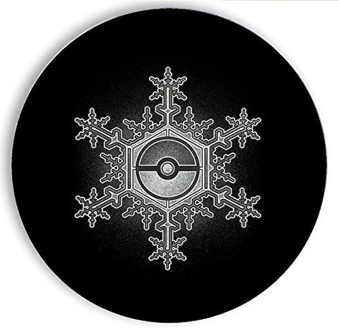 Ceramic Stone Coaster Coasters Set of Four - Ball in Snowflake - Parody Design