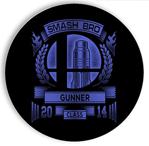 Ceramic Stone Coaster Coasters Set of Four - Smash Bro Gunner - Parody Design