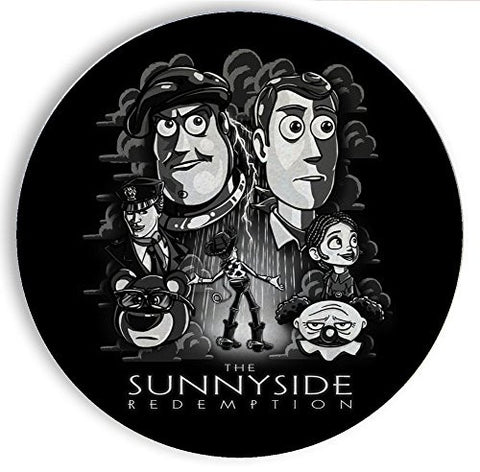 Ceramic Stone Coaster Coasters Set of Four - The Sunnyside Redemption - Parody Design