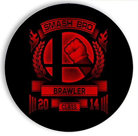 Ceramic Stone Coaster Coasters Set of Four - Smash Bro Brawler - Parody Design