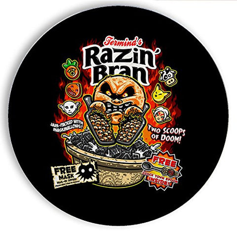 Ceramic Stone Coaster Coasters Set of Four - Razin' Bran - Parody Design