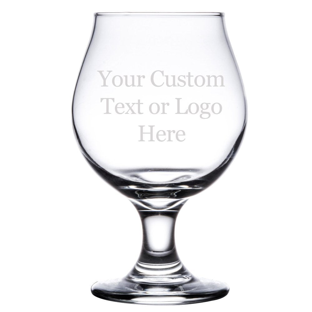 Custom Personalized Beer Tulip Glass - 16 oz Belgian Style Pub Glass