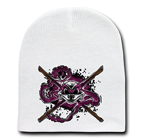 White Adult Beanie Skull Cap Hat - Brains and Bone - Parody Design