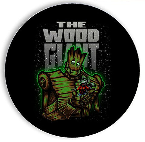 Ceramic Stone Coaster Coasters Set of Four - The Wood Giant - Parody Design