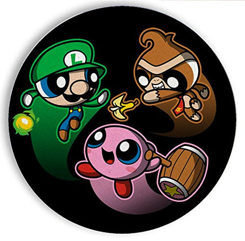 Ceramic Stone Coaster Coasters Set of Four - Super Puff Bros 3 - Parody Design