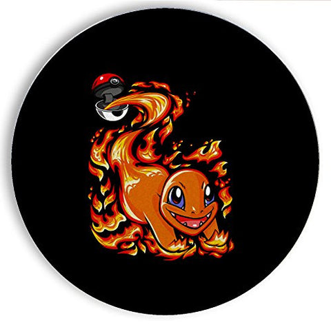 Ceramic Stone Coaster Coasters Set of Four - Ball of Fire - Parody Design