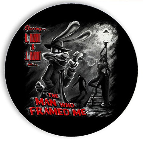 Ceramic Stone Coaster Coasters Set of Four - The Man Who Framed Me B&W - Parody Design