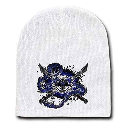 White Adult Beanie Skull Cap Hat - Bone to Lead - Parody Design