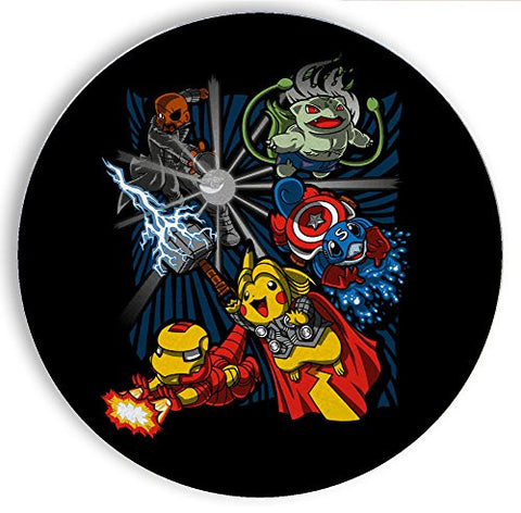 Ceramic Stone Coaster Coasters Set of Four - Avengermon - Parody Design