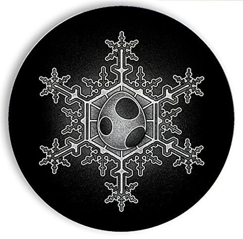 Ceramic Stone Coaster Coasters Set of Four - Egg Snowflake - Parody Design