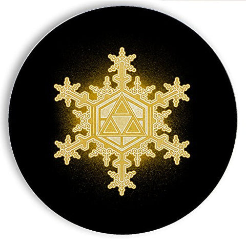 Ceramic Stone Coaster Coasters Set of Four - Triforce Snowflake - Parody Design