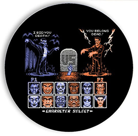 Ceramic Stone Coaster Coasters Set of Four - Universal Monster Fighter - Parody Design