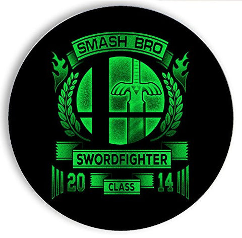Ceramic Stone Coaster Coasters Set of Four - Smash Bro Swordfighter - Parody Design