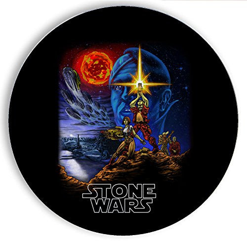 Ceramic Stone Coaster Coasters Set of Four - Stone Wars - Parody Design