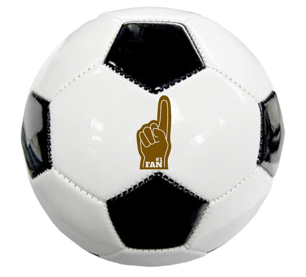 Laser Engraved Synthetic Sports Ball Gift - #1 Fan (Soccer Ball)