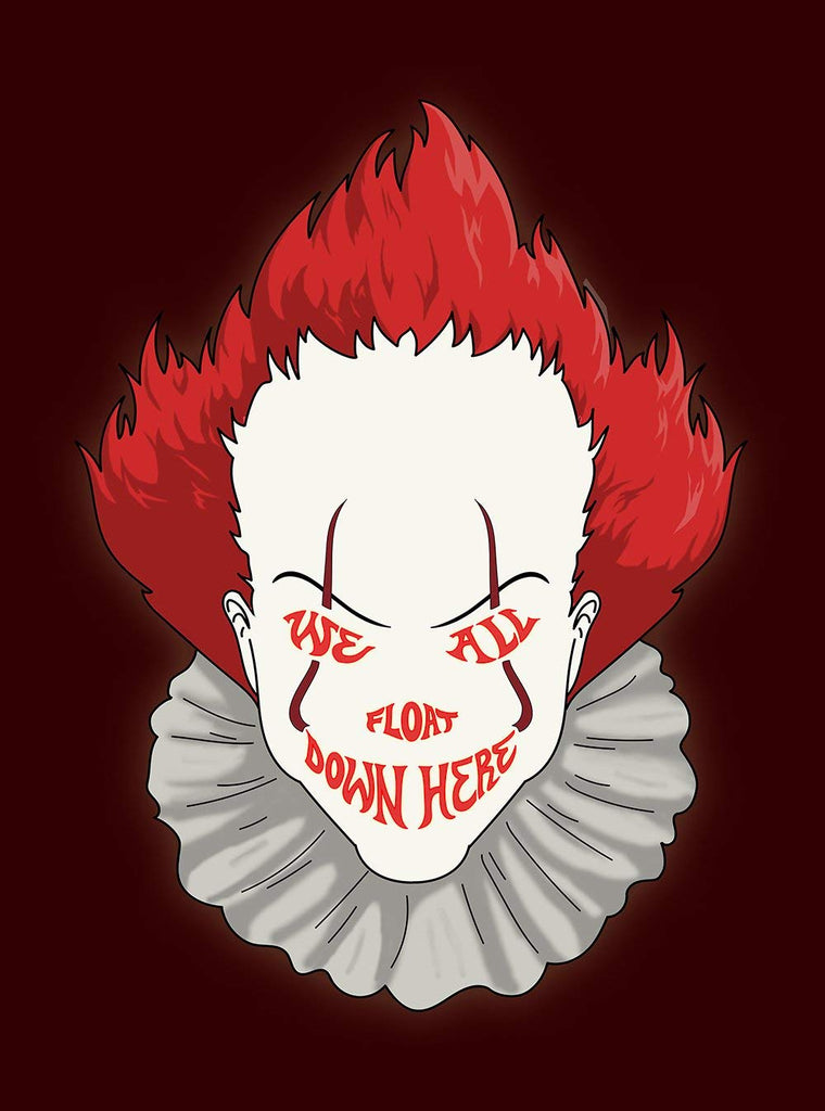 Vinyl Print Poster - 18x24 We All Float Down Here Horror Movie Clown