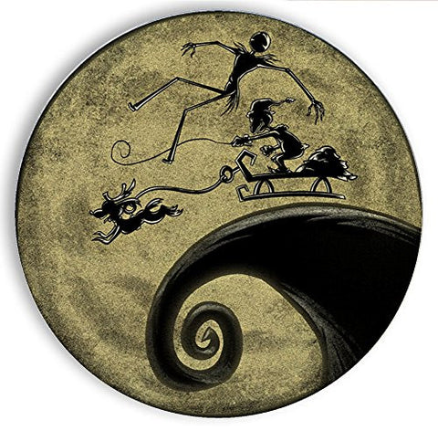 Ceramic Stone Coaster Coasters Set of Four - The Nightmare Before Grinchmas - Parody Design