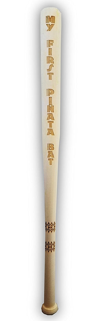 "Unfinished Wooden Toy 18"" My First Piñata Baseball Bat Custom Personalized Party Favor Accessory Gift"