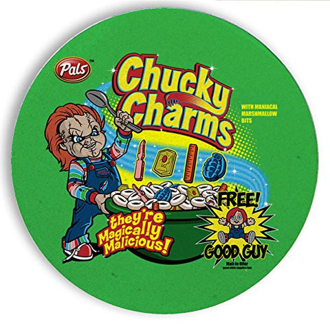 Ceramic Stone Coaster Coasters Set of Four - Chucky Charms - Parody Design