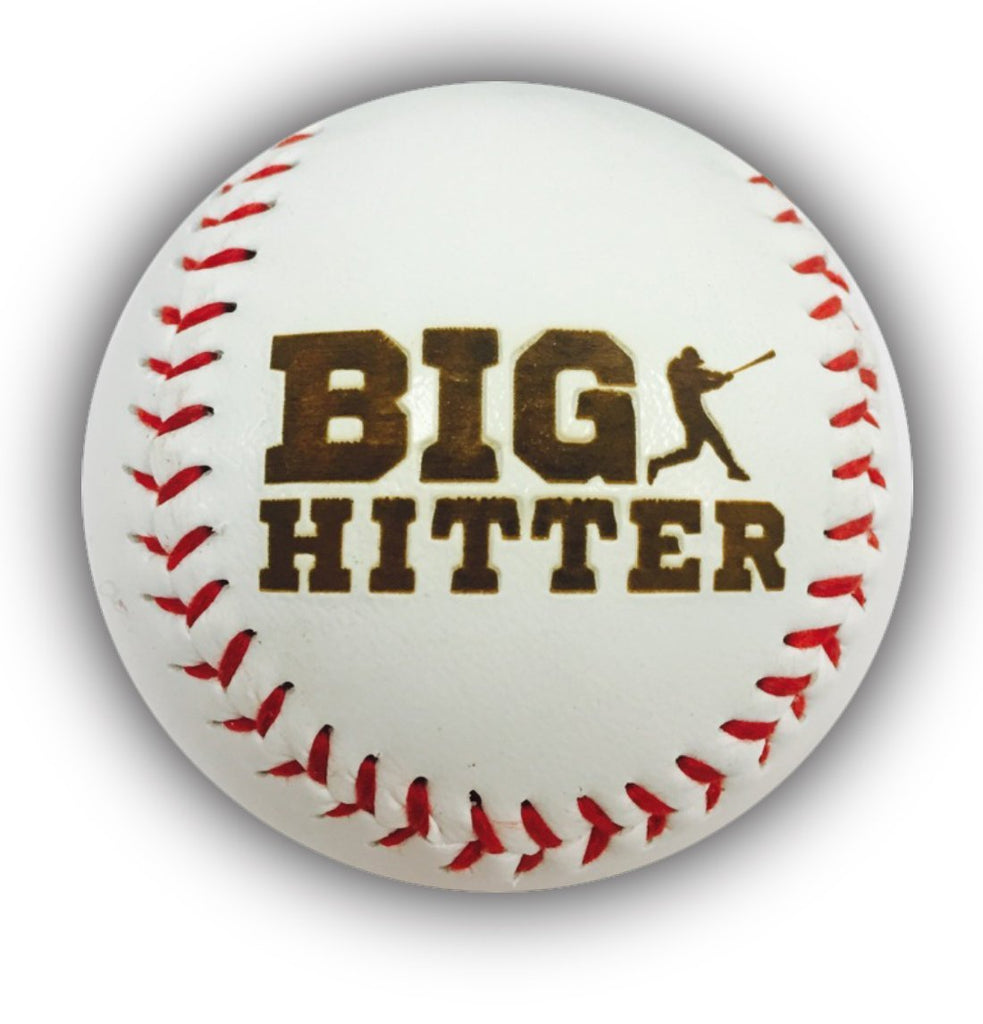 BIG HITTER Laser Engraved Synthetic Leather Baseball Gift