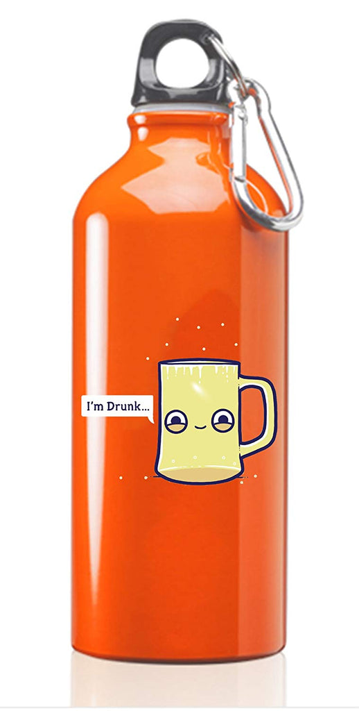 Hat Shark Randy Otter Drunk Empty Cup Pun Humor 3D Color Printed 17 oz Stainless Steel Water Bottle Orange