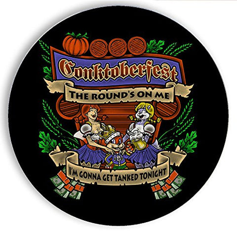Ceramic Stone Coaster Coasters Set of Four - Conktoberfest - Parody Design