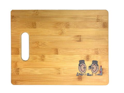 """Russian Roulette"" Randy Otter Funny Humor 3D COLOR Printed Bamboo Cutting Board - Wedding, Housewarming, Anniversary, Birthday, Mother's Day, Gift"