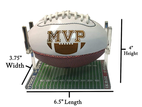 Hat Shark Acrylic Mini Football Stand 3D Color Printed Display Athletic  Unique Field Trophy Case