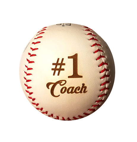#1 Coach Laser Engraved Synthetic Leather Baseball Gift