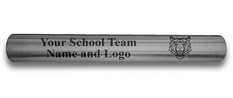 Custom Silver Aluminum Track and Field Relay Baton Personalized Gift - Your Team Name and Logo Engraved
