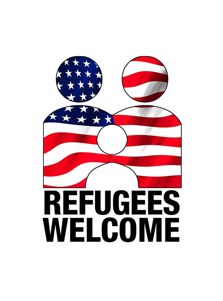 Vinyl Print Poster - 18x24 Refugees Welcome Anti Trump