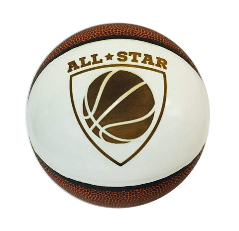 All Star 3D Laser Engraved Miniature Toy 5 inch Basketball