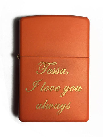 Personalized Matte Zippo Lighter - Free Laser Engraving Custom Gift