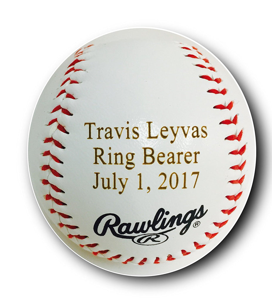 Custom Customized Personalized Synthetic Leather Baseball Gift - Your Message Engraved
