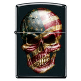 American Flag Skull Face Black Matte Custom Zippo Windproof Collectible Lighter. Made in USA Limited Edition & Rare