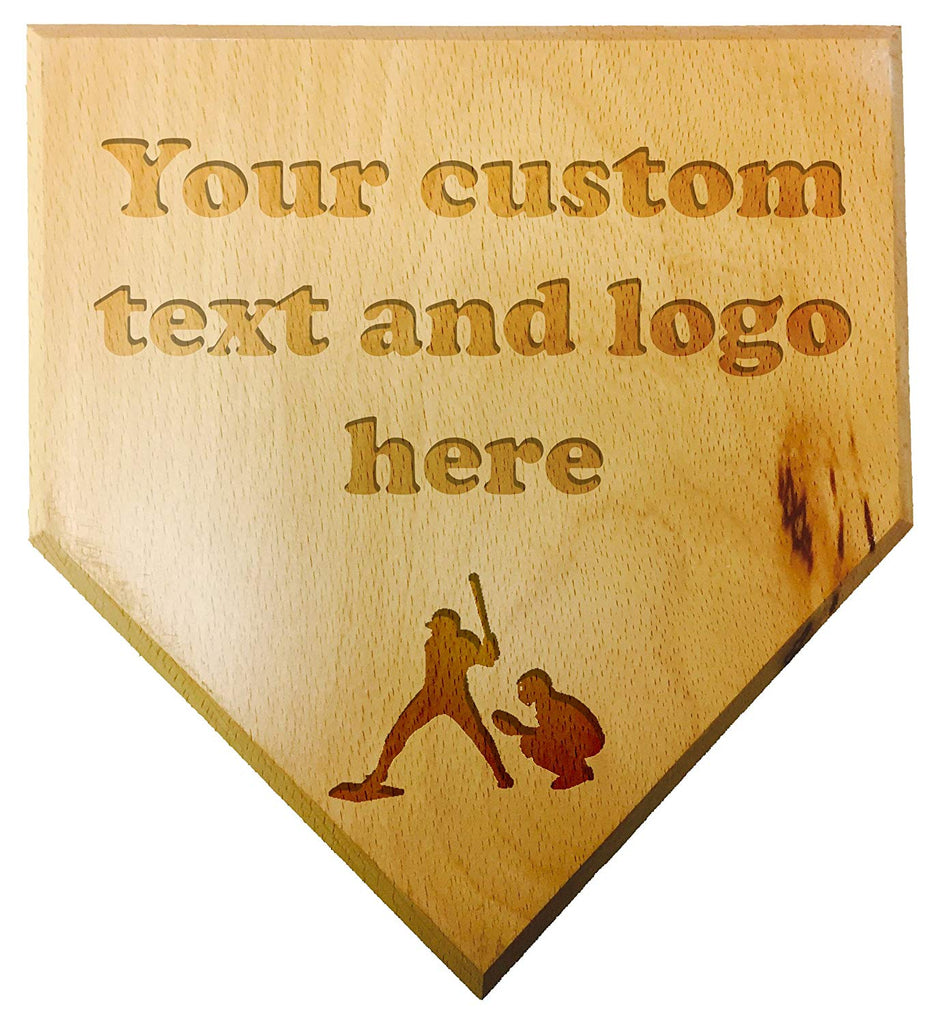 Customized Engraved Personalized Wood Mini Custom Baseball Home Plate Plaque at Wedding Groomsman Favor Ring Bearer Gift