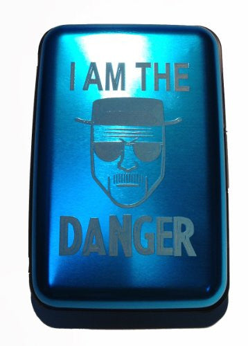 I AM THE DANGER Criminal Sketch - Blue Aluminum Hard Credit Card Wallet